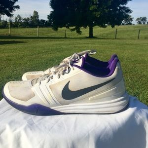 Men's Nike Sneakers White Purple Size 14 shoes